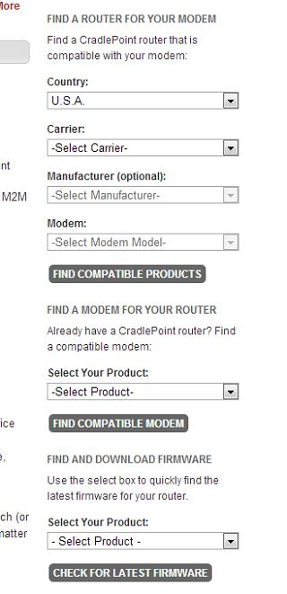Custom Compatibility & Firmware Search Widgets