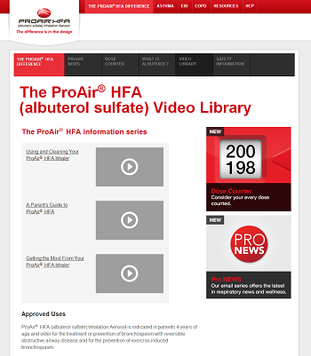 Consumer Video Library Landing Page