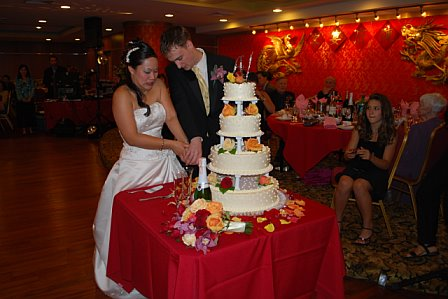 Cut that wedding cake!