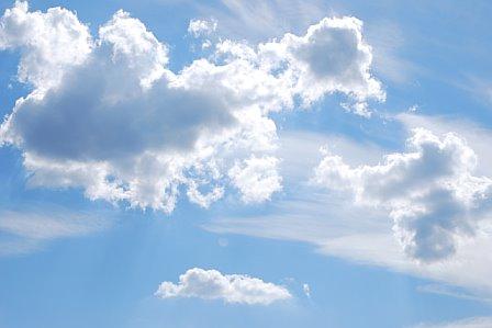 Cumulus Clouds overhead