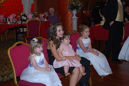 Flower Girls watch the wedding ceremony