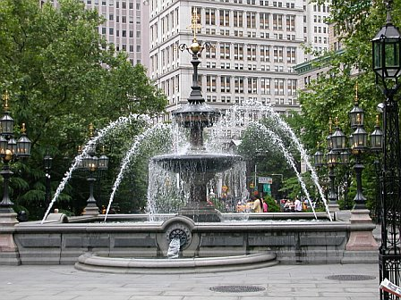 Park Place, City Hall NYC Fountain