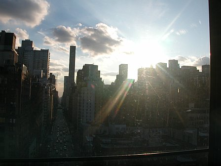 Sun Backlit Manhattan Skyline