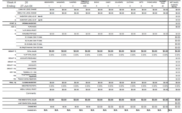 Hudson Group Perpetual Inventory Worksheet