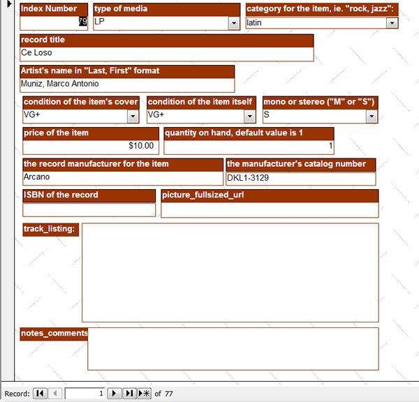 Ridge Road Sight & Sound Custom Inventory Management Forms
