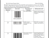 Barcode Scanner Simplified Technical Setup Instructions