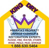 King Dry Water Damage Logo