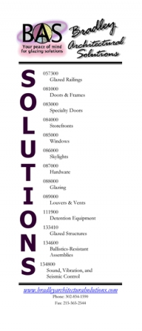 Trifold Sales Brochure Cover - Bradley Architectural Solutions