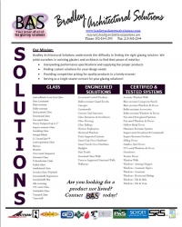 Product Linecard Flyer - Bradley Architectural Solutions