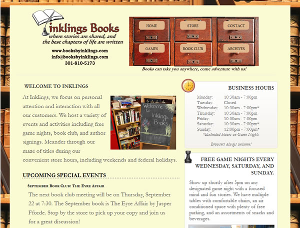 Books By Inklings (Drupal) Web Site