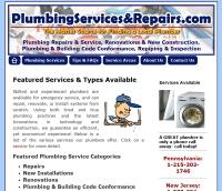Plumbing Services and Repairs (Wordpress) Web Site