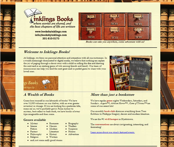 Books By Inklings Website v1.0