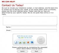 Captcha Alternative Human Authentication Form Tool