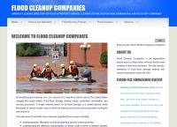 Flood Cleanup Companies Website
