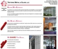 Tectonic Metal & Glass Landing Page