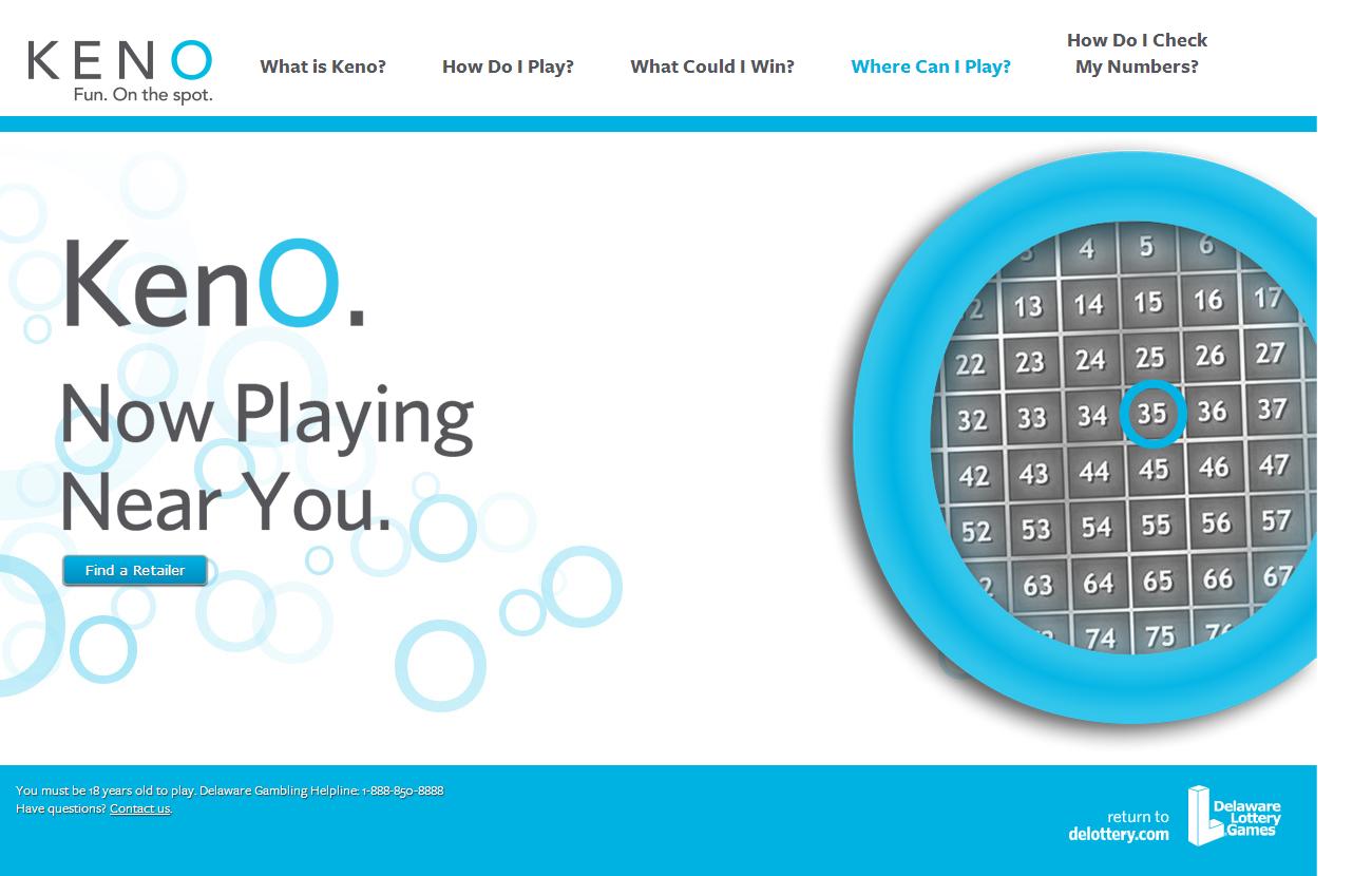 DE Lottery Announces Keno