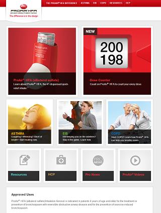 ProAirHFA Consumer Home Page