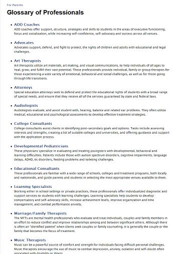 Custom Glossary of Professions