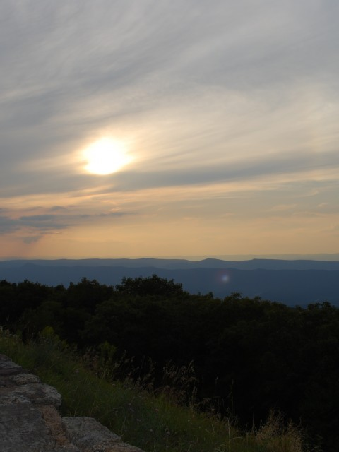 Sunset along Skyline Drive