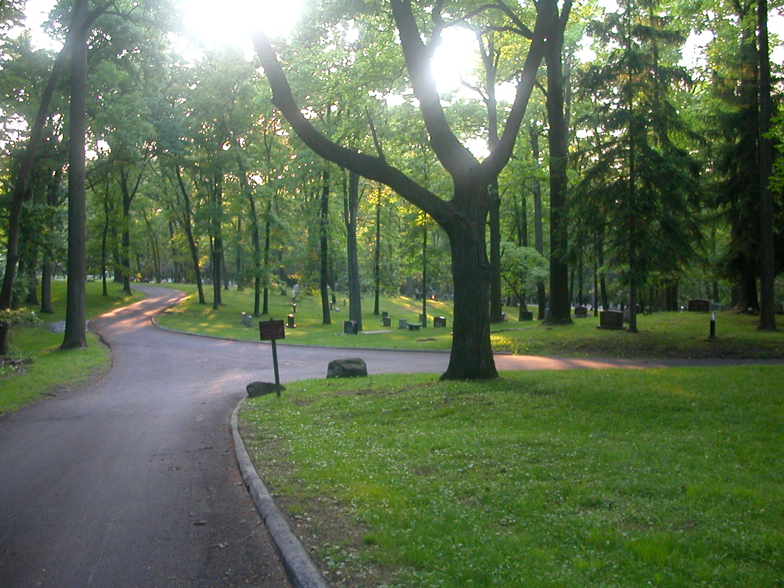Crossroads behind Washington's Chapel in Valley Forge