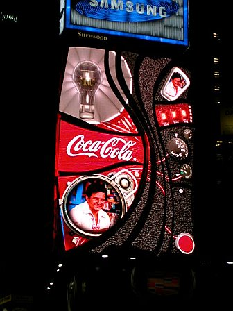 Coca Cola light board in Times Square NYC