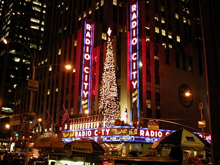 Radio City Christmas Decor by Night