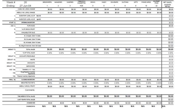 Hudson Group Perpetual Inventory Worksheet